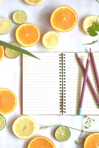 Note book and pencils ready to plan with Erin O'Neill APD flexible dieting coach in Australia
